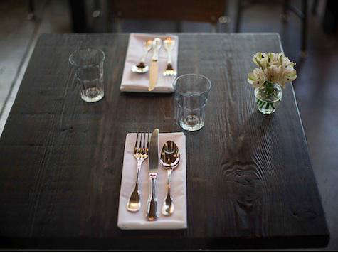 sitka spruce table setting 2
