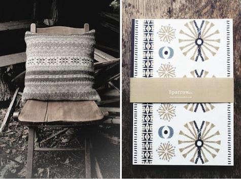 sparrow pillow notebook 2