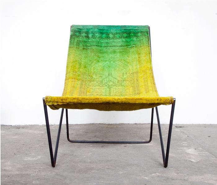 700 acid yellow carpet chair