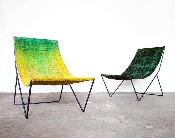 700 carpet chair pair two
