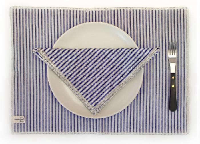700 commune ticking stripe linens