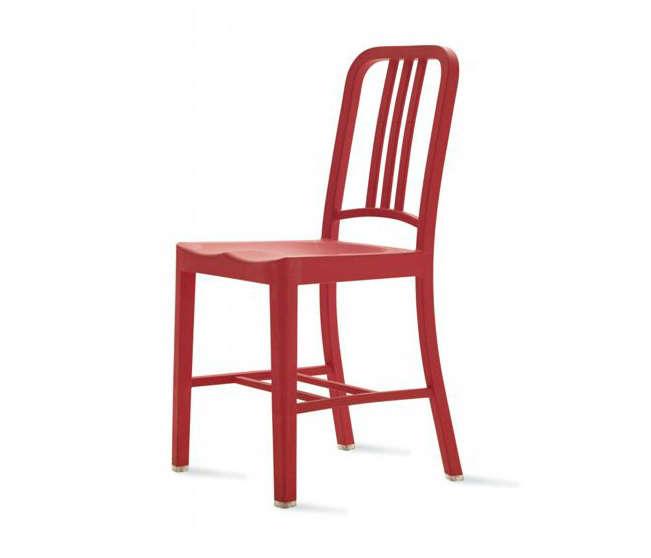 emeco navy 111 chair red angle