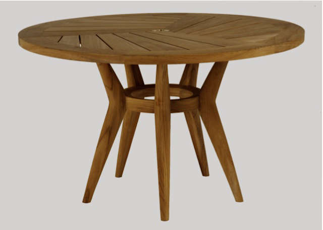 10 Easy Pieces Round Wood Outdoor Tables Remodelista