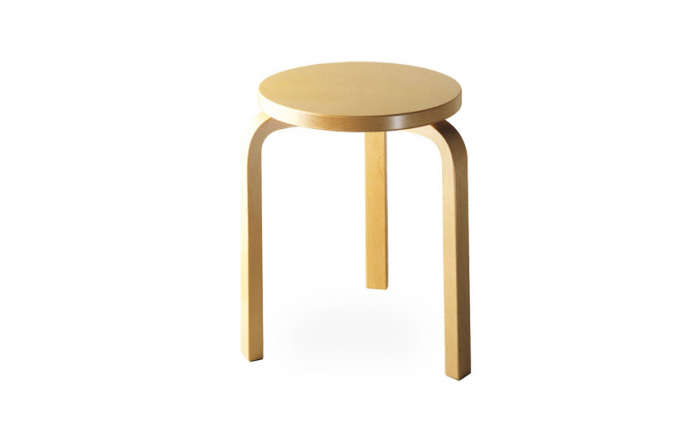the stools are a craigslist find; for something similar, try the alvar aalto 60 13