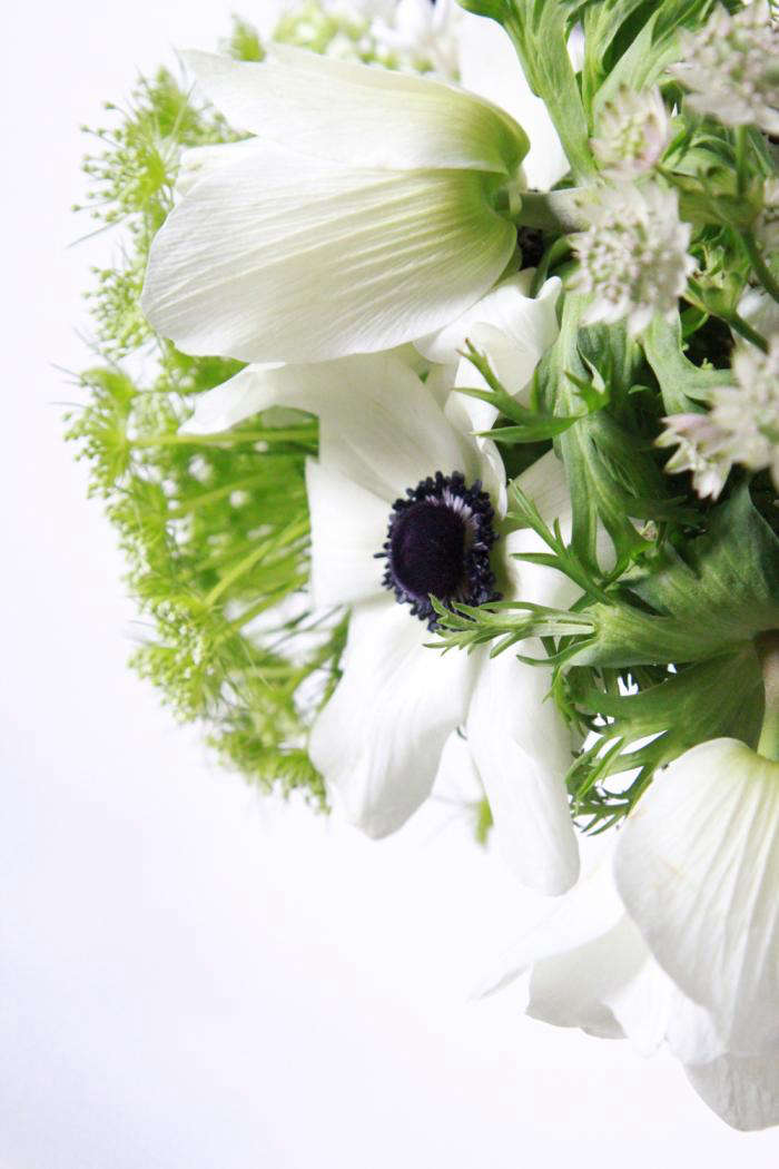 Bouquet of the Week Splurge on Black and White Anemones portrait 8