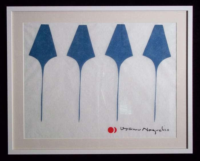 700 blue noguchi print