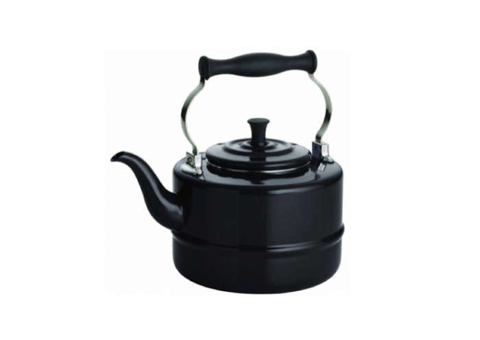 700 bonjour porcelain tea kettle black
