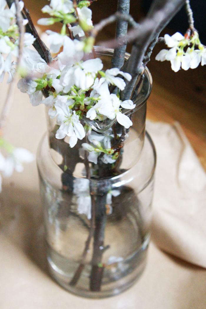 700 cherry branches and carafe