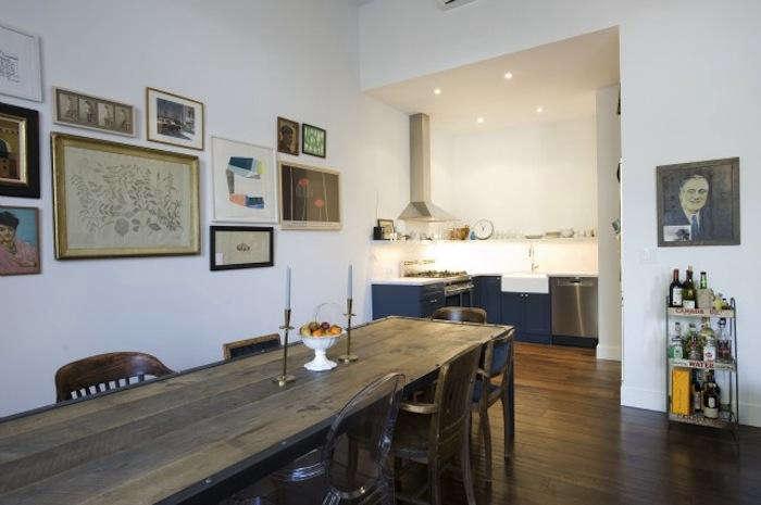 700 elizabeth roberts brooklyn heights home with worn wood table
