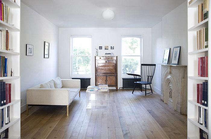 700 elizabeth roberts fort greene living room with worn wood floors