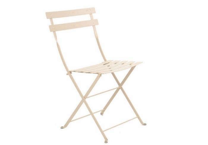 700 fermob folding metal bisro dining chair white