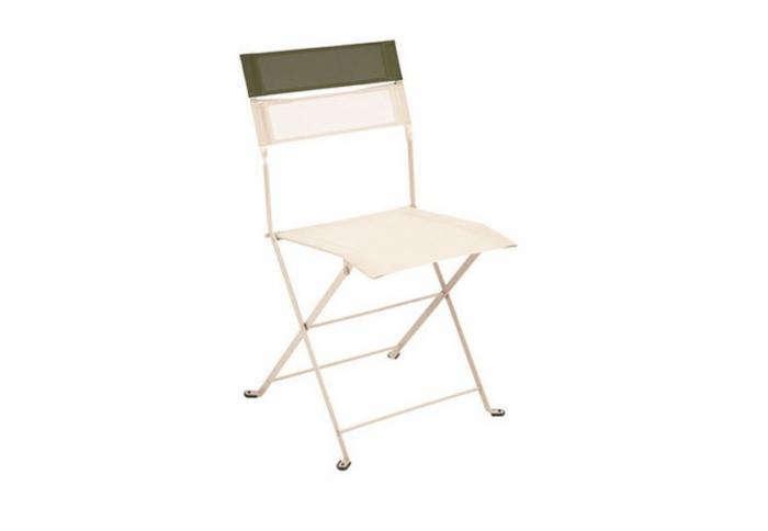 700 fermob latitude folding chair in linen and savana