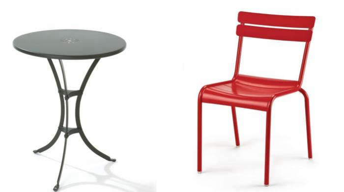 700 manufactum bistro table for two and chair