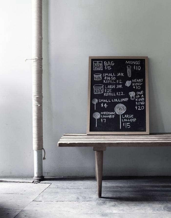 700 papabubble chalkboard on wall