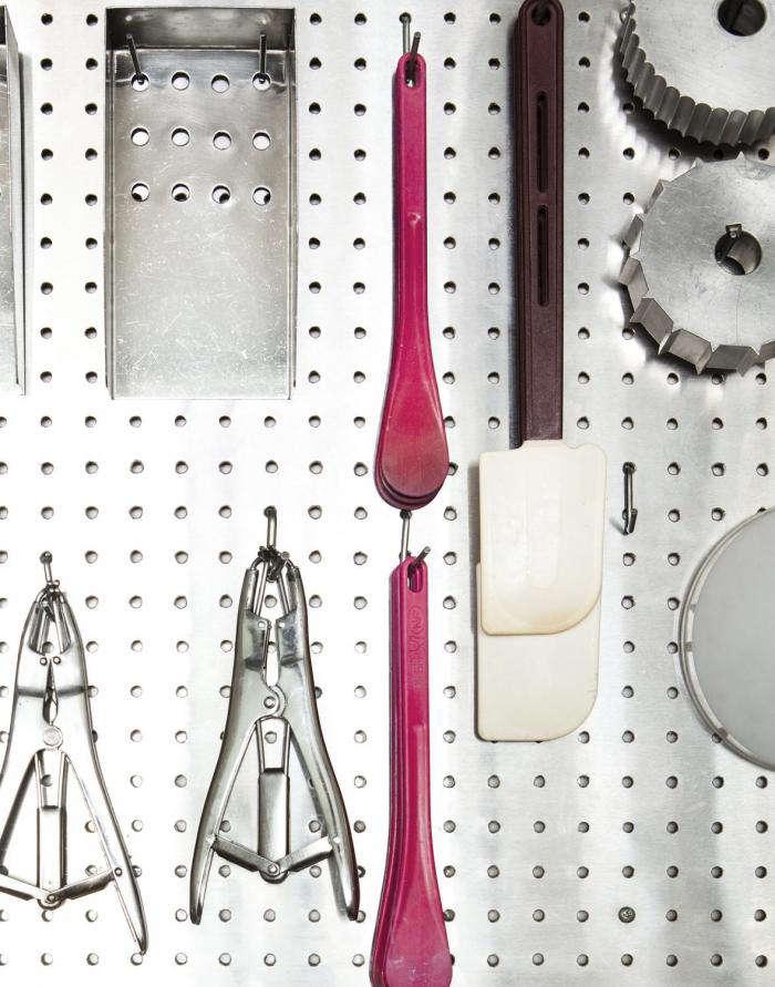 700 papabubble tools on pegboard