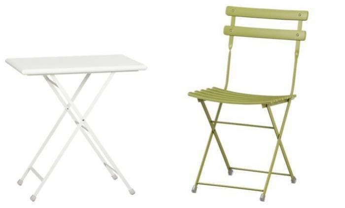 700 pronto table and chair in white and green