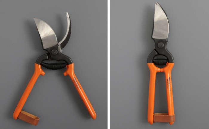 700 secateurs orange handle