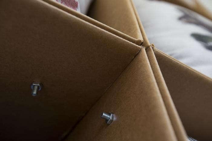 DIY Instant Cardboard Box Shelving portrait 4