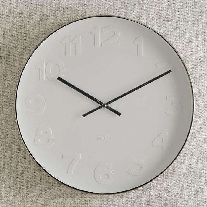 700 west elm wall clock classic silver design