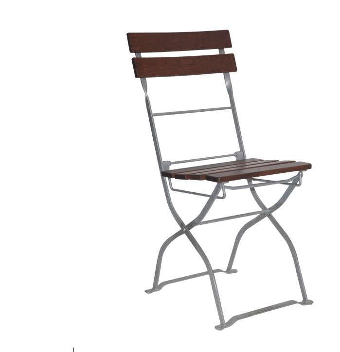 elefant wood and metal folding chair