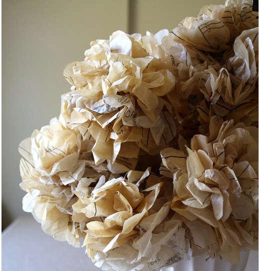 paper flowers wedding chicks