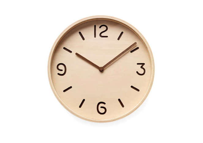 wooden wall clock simple