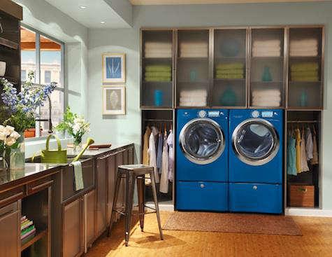 blue washer dryer electrolux