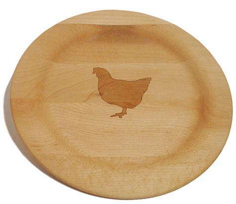 Tabletop Wood Farm Animal Plates from Fitzsu in LA portrait 3