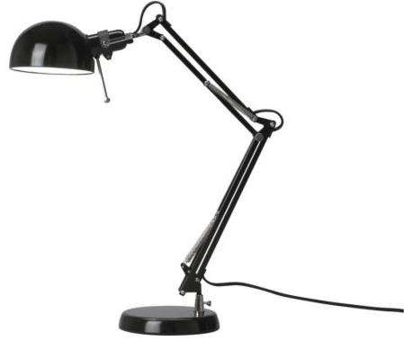 forsa black work lamp