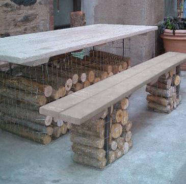 gabion chairs tables 2