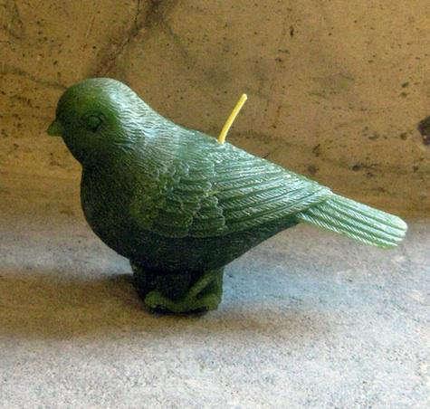 green birds candles 2
