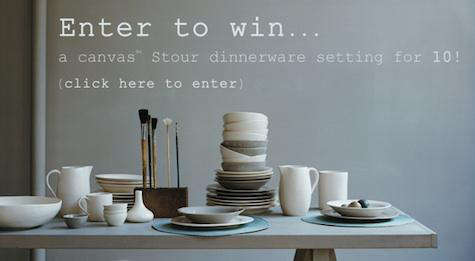 Giveaway Table Setting for Ten from Canvas portrait 3
