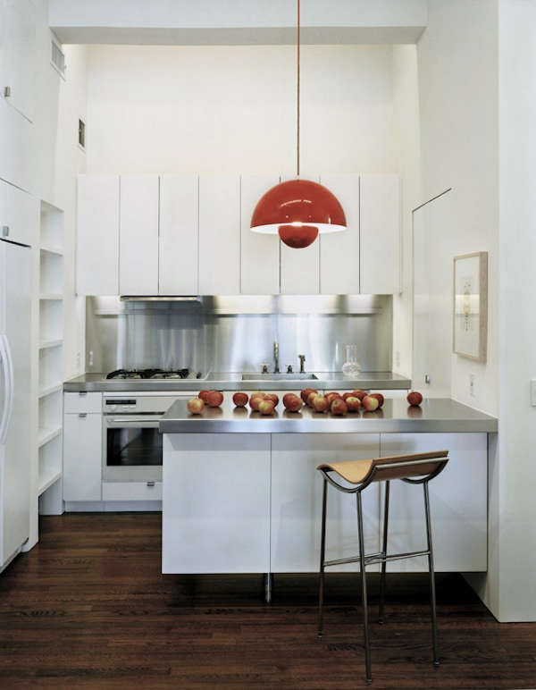 01red light kitchen stainless steel
