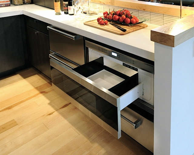 01wolf microwave drawer in siture