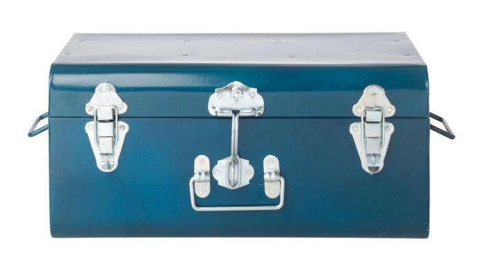 700 blue metal tin