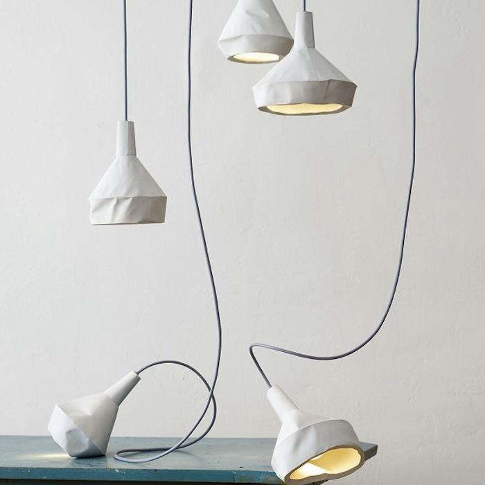 Modern Alchemy Concrete Lamps Made to Look Like Paper portrait 3