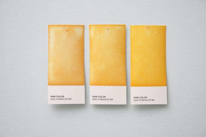 700 raw color samples yellow
