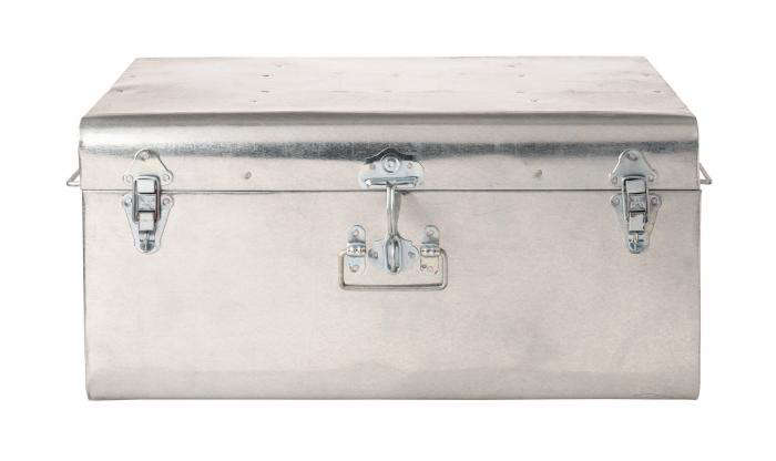 700 silver metal trunk