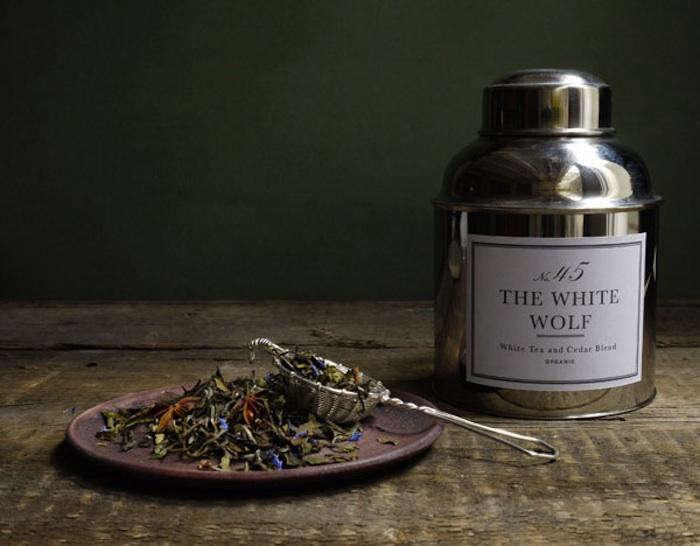 700 white wolf tea display