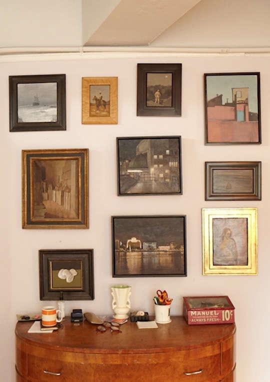 duncan hannah framed photos on wall