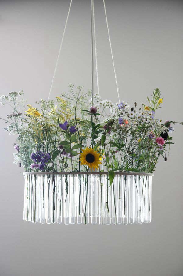 flower test tube chandelier 3