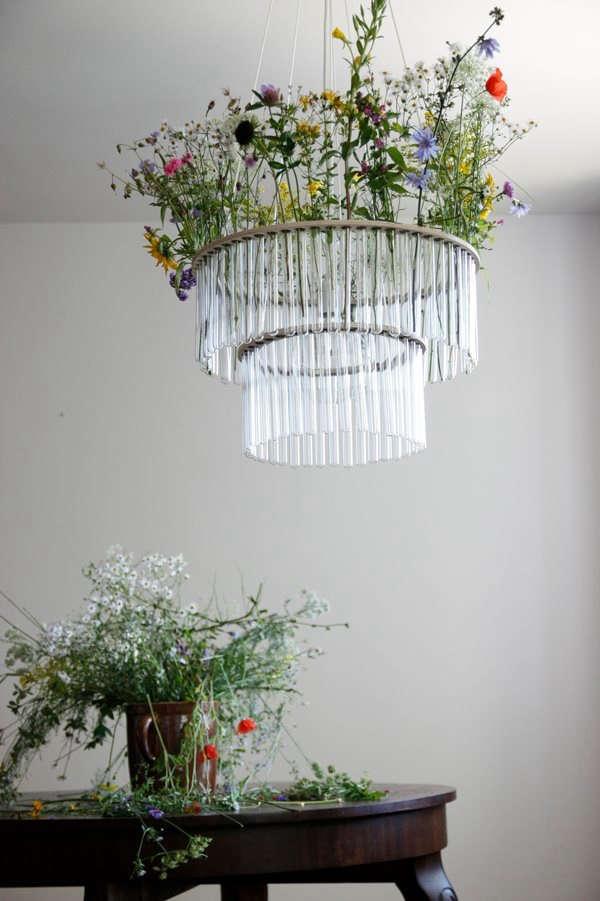 flower test tube chandelier pania