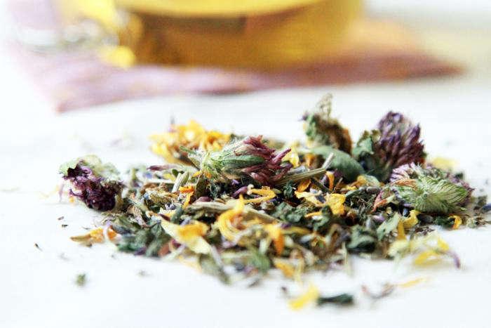 700 allergy tea on table