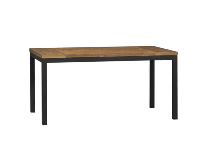 700 crate and barrel rectangular wood and metal table