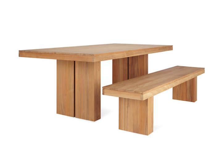 700 wooden outdoor dining table design within reach