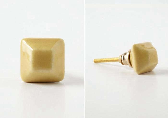700 yellow ceramic knobs anthropologie