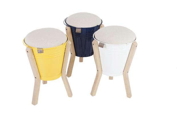 p l bucket stool