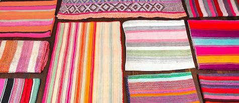 Walls Windows  Floors Striped Peruvian Rugs from Morris Etc portrait 5
