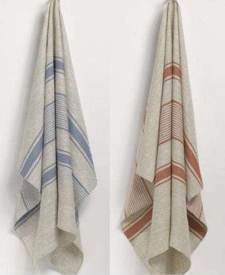 anichini blue red beach towel