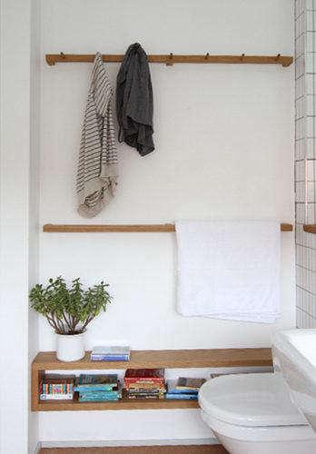Design Sleuth Shaker Peg Rail in the Bath portrait 4